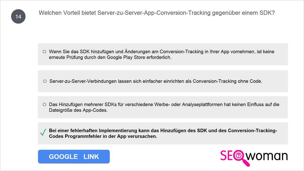 Welchen Vorteil bietet Server-zu-Server-App-Conversion-Tracking gegenüber einem SDK?