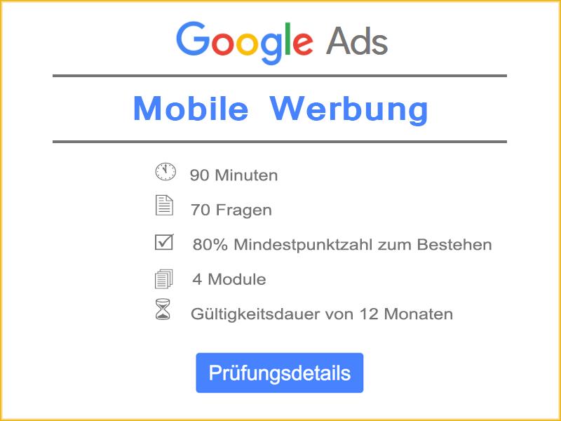 Google Ads Mobile Werbung Quiz Details