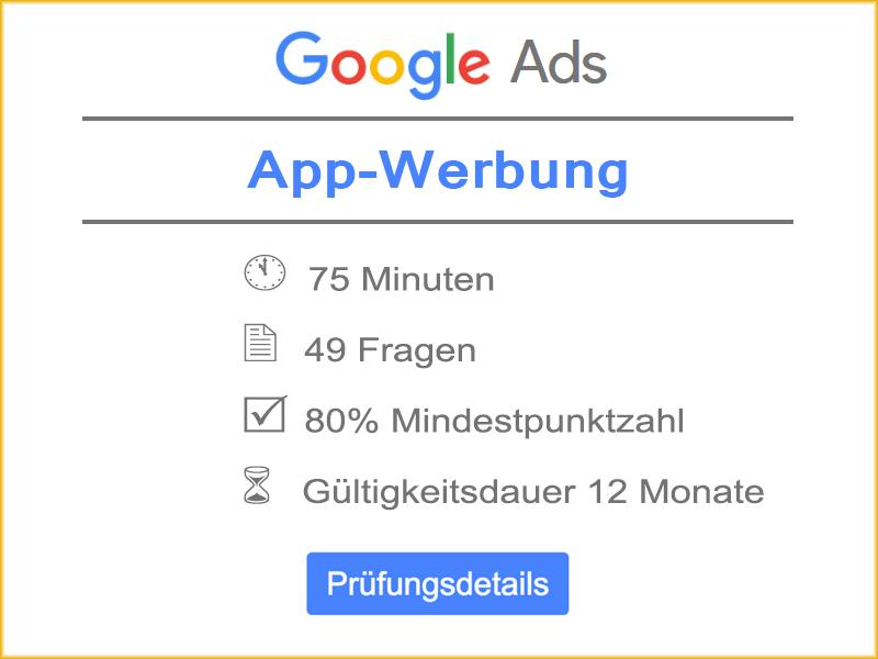 Google Ads App-Werbung Prüfung Details