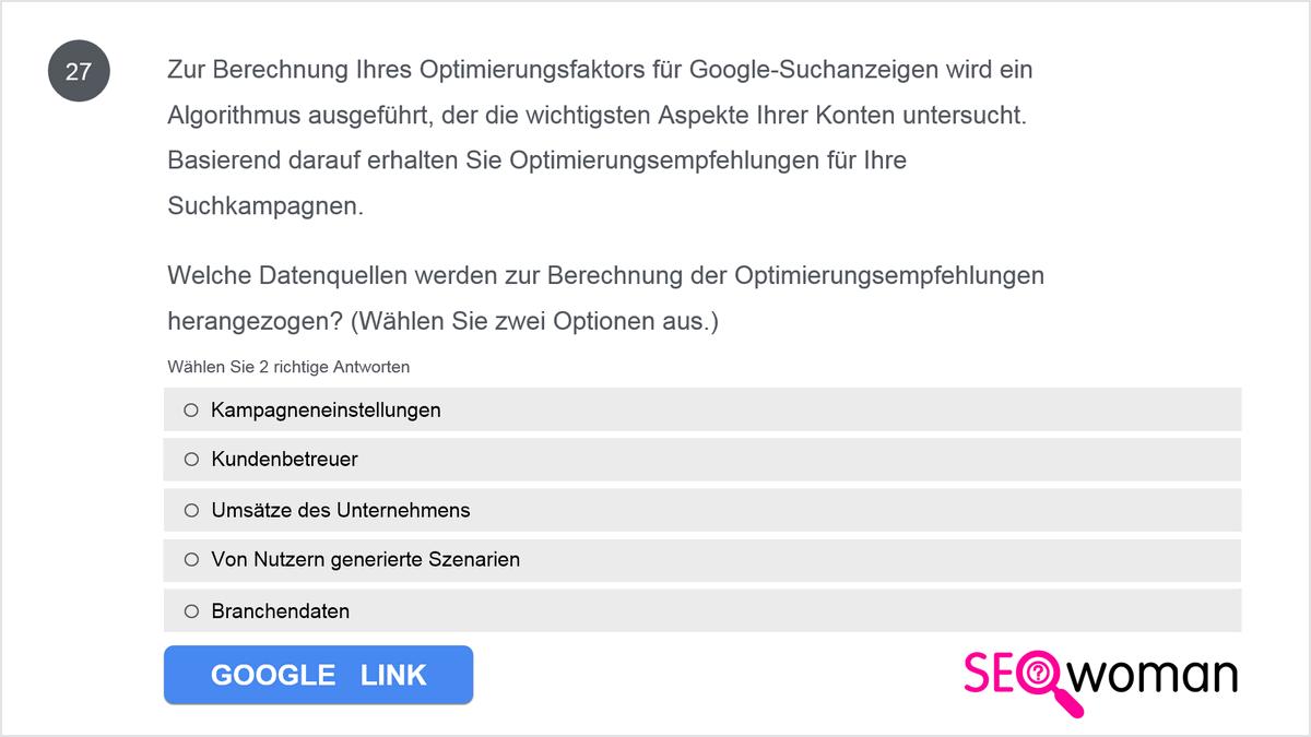 Tina nutzt im Rahmen ihrer Google Ads-Gebotsstrategie für Suchkampagnen die automatische Gebotseinstellung. Warum bevorzugt sie diese Methode?