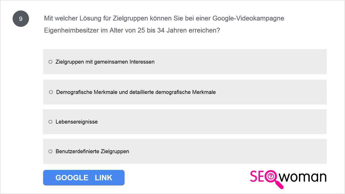 Antons Kunde ist Architekt. Er möchte mit YouTube mehr potenzielle Kunden ansprechen. Er hält eine allgemeine Anzeige für ausreichend, um sein Ziel zu erreichen, doch Anton weiß, dass diese Strategie wahrscheinlich nicht die beste ist. Was kann er seinem Kunden zum Thema Anzeigenrelevanz auf YouTube sagen, um ihn zum Umdenken zu bewegen?