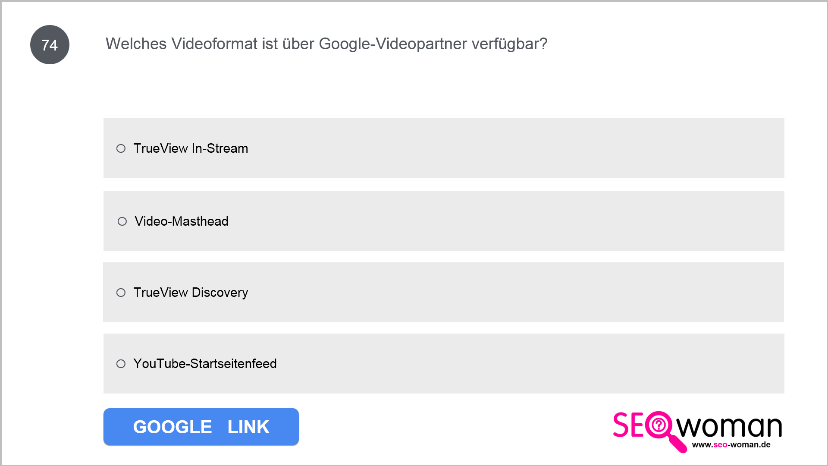 Welches Videoformat ist über Google-Videopartner verfügbar?