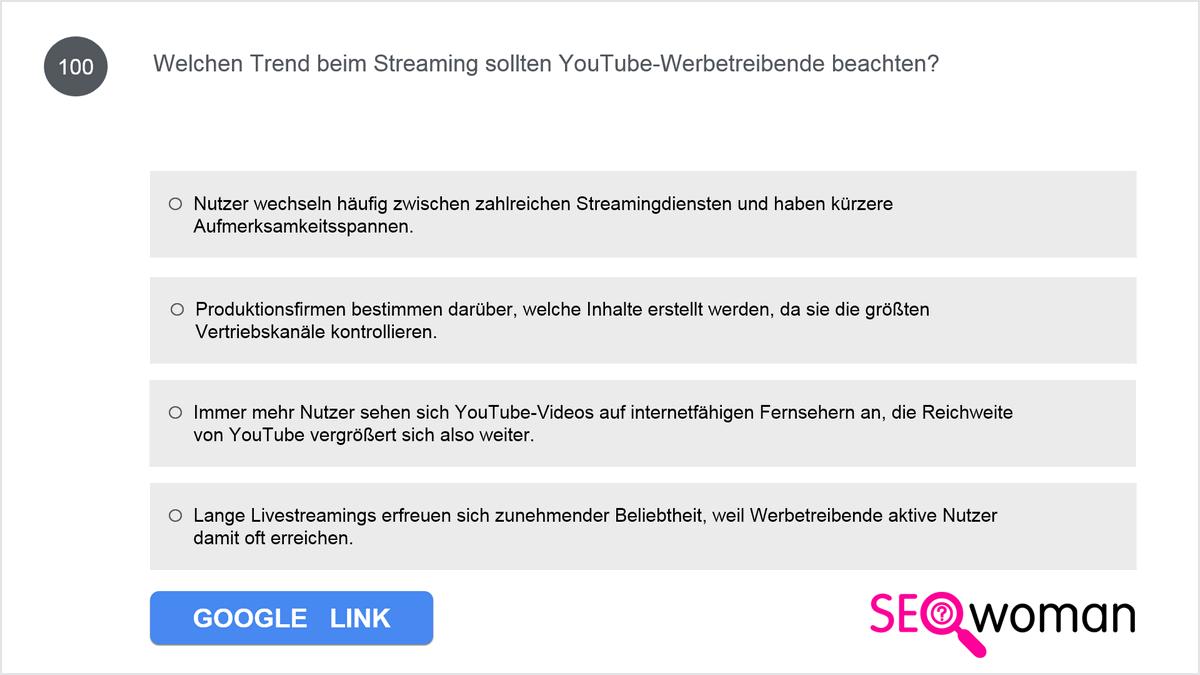 Bei welchem TrueView-Anzeigenformat erfolgt die Abrechnung auf CPM-Basis?