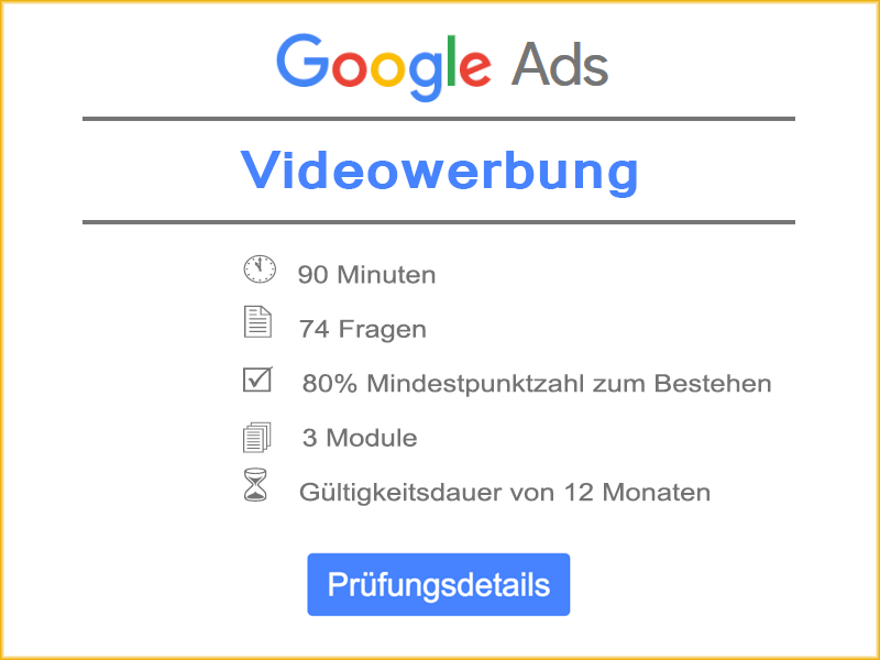 Informationen: Google Ads Videowerbung