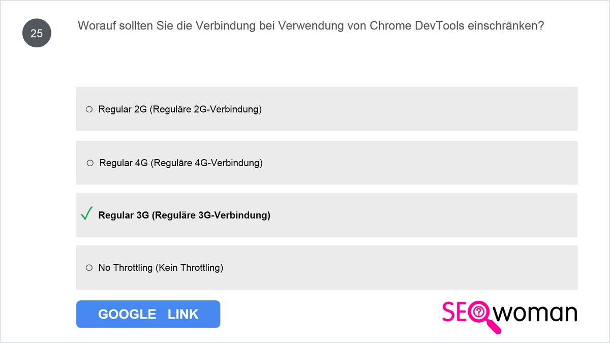 Worauf sollten Sie die Verbindung bei Verwendung von Chrome DevTools einschränken?