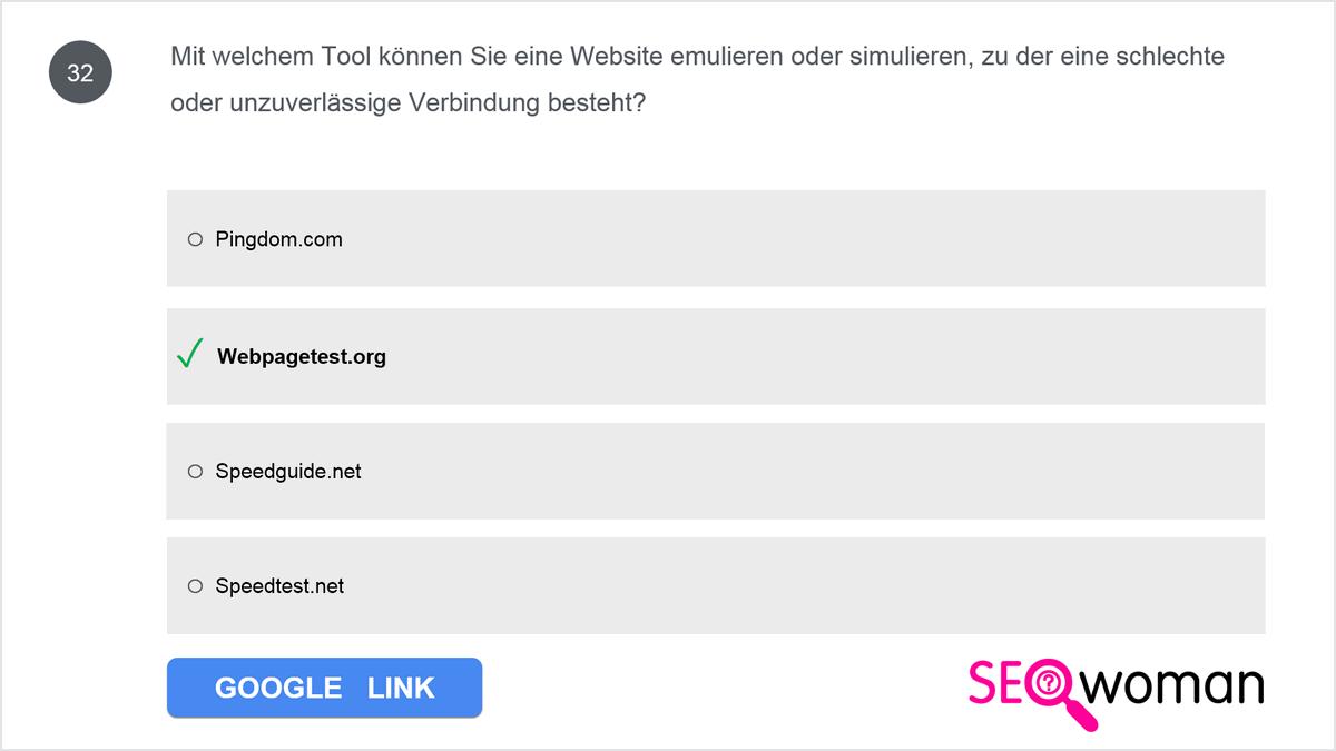 Mit welchem Tool können Sie eine Website emulieren oder simulieren, zu der eine schlechte oder unzuverlässige Verbindung besteht?