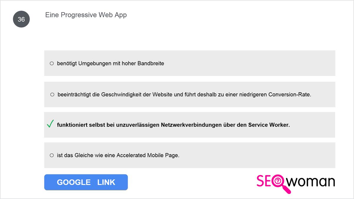 Eine Progressive Web App ...