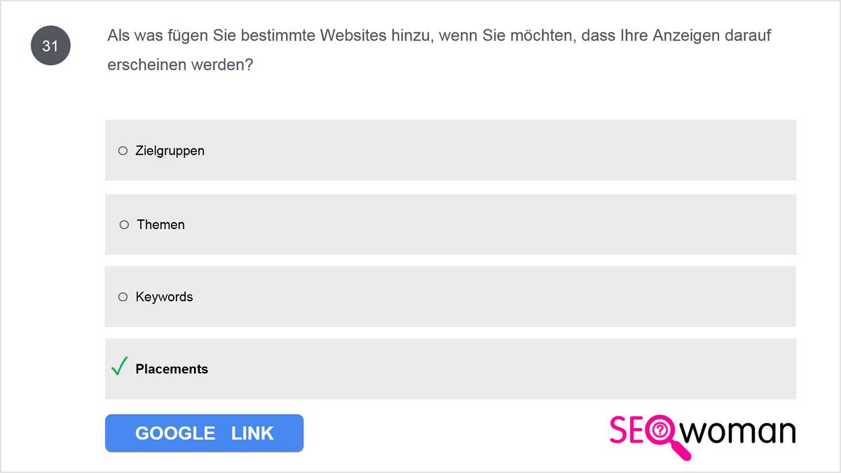 Als was fügen Sie bestimmte Websites hinzu, wenn Sie möchten, dass Ihre Anzeigen darauf erscheinen werden?