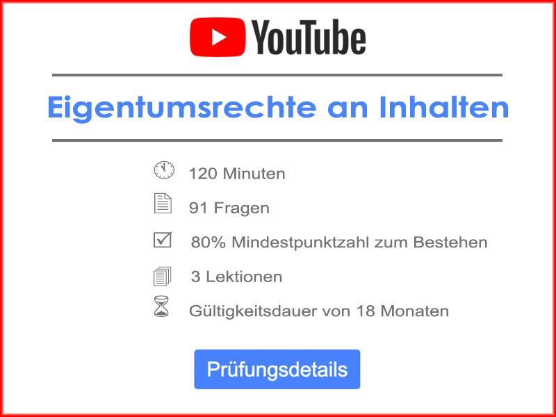 YouTube Eigentumsrechte an Inhalten