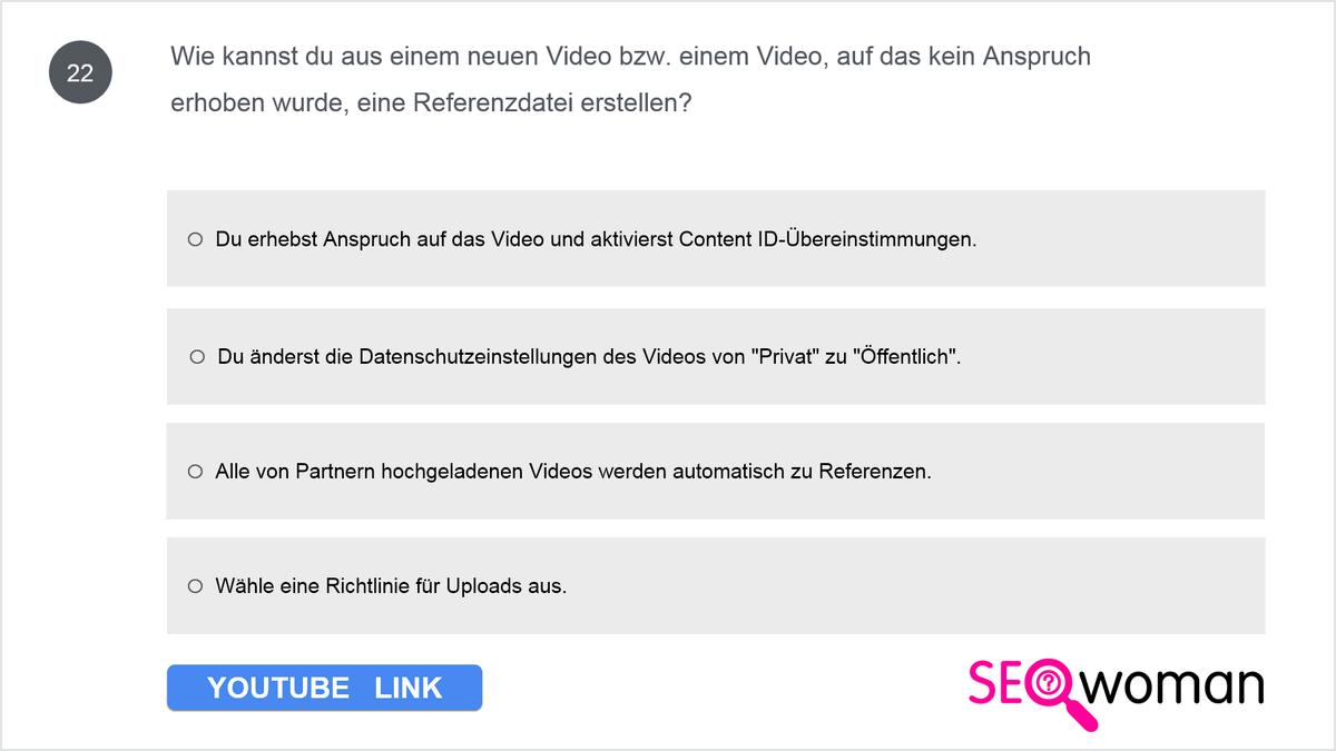 Wie kannst du aus einem neuen Video bzw. einem Video, auf das kein Anspruch erhoben wurde, eine Referenzdatei erstellen?
