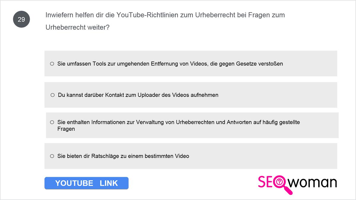 Inwiefern helfen dir die YouTube-Richtlinien zum Urheberrecht bei Fragen zum Urheberrecht weiter?