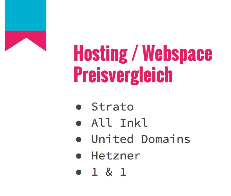 Hosting & Webspace Preisvergleich