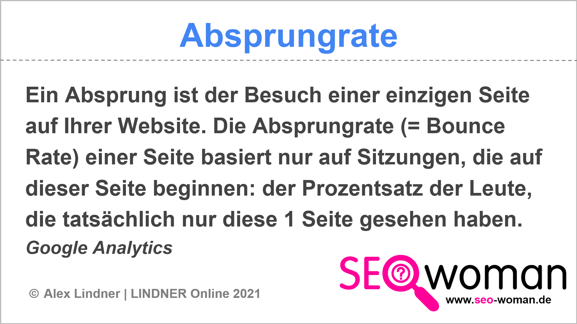 Absprungrate (Bounce-Rate)