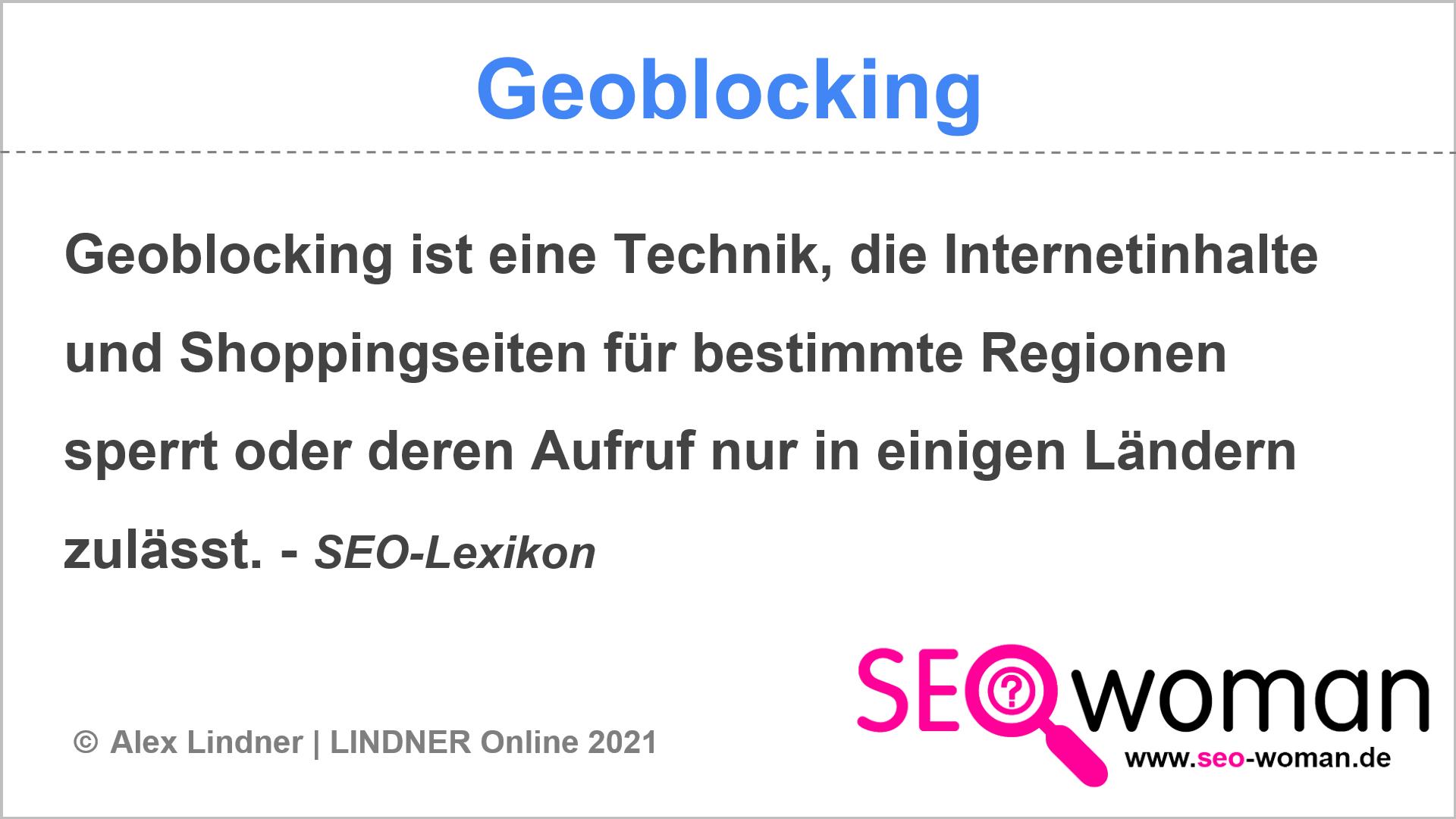 Geoblocking | SEO-Lexikon