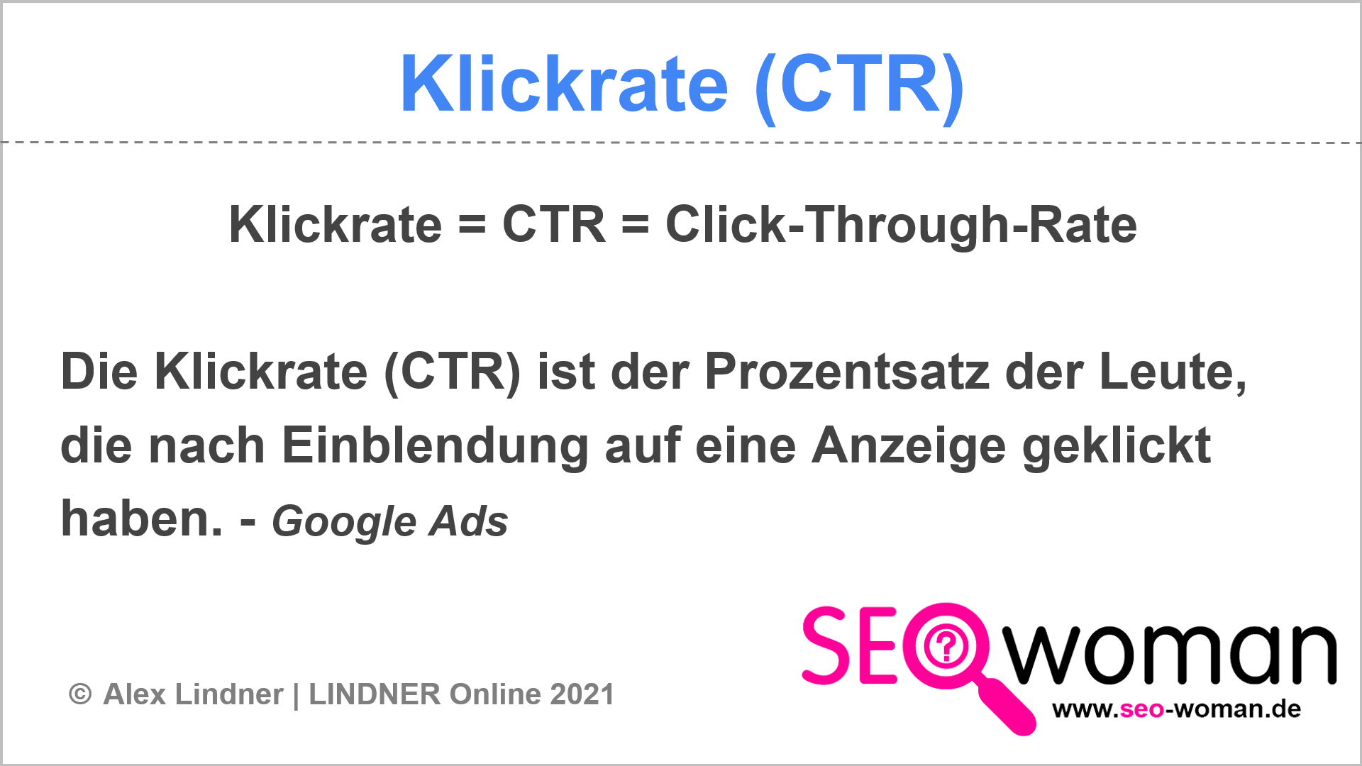 Klickrate (CTR)