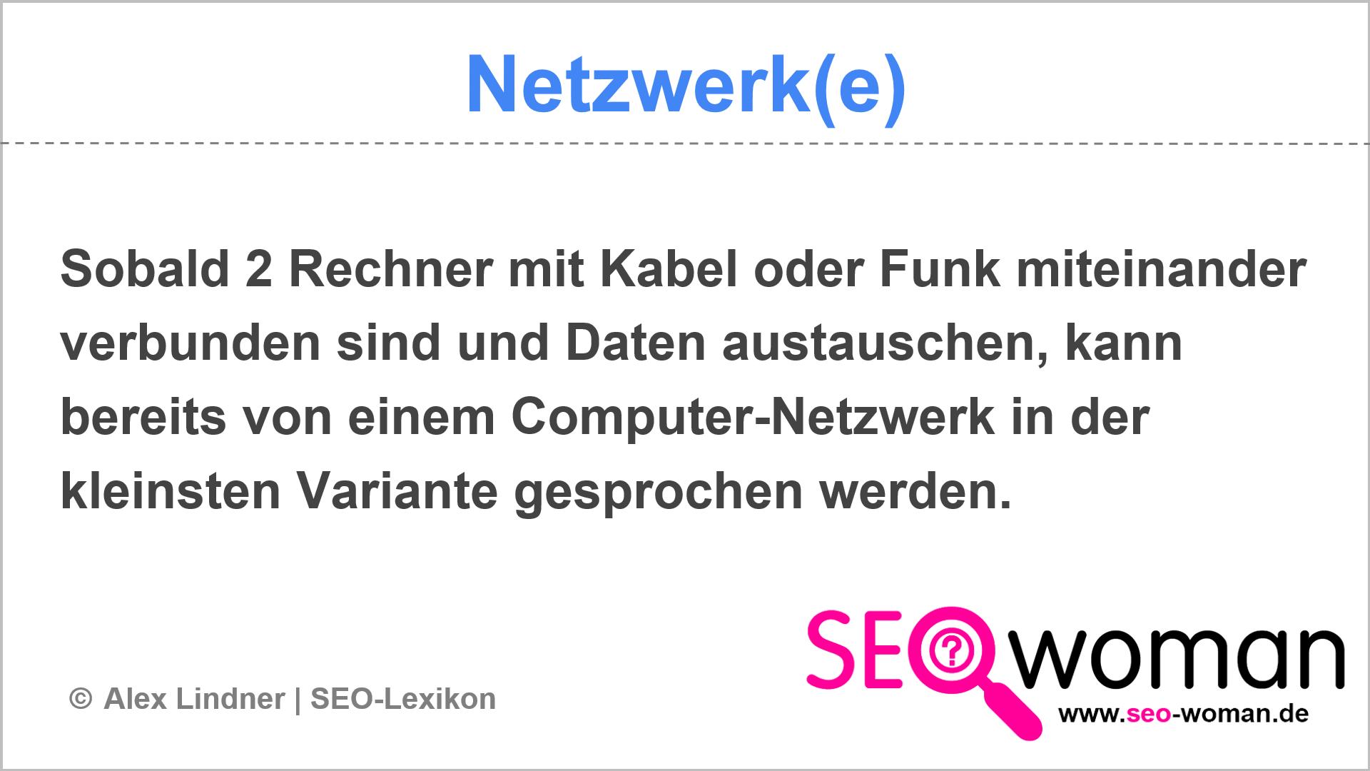 Netzwerk(e) | SEO-Lexikon