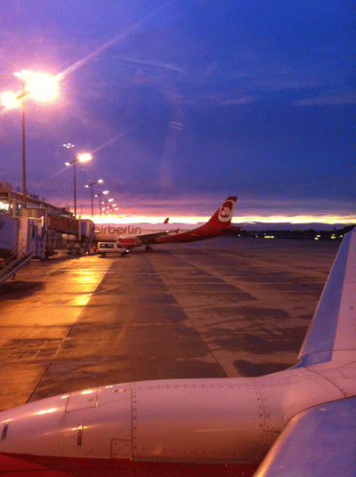 Airport Nuremberg at night
