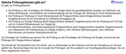 google certification prüfungsthemen