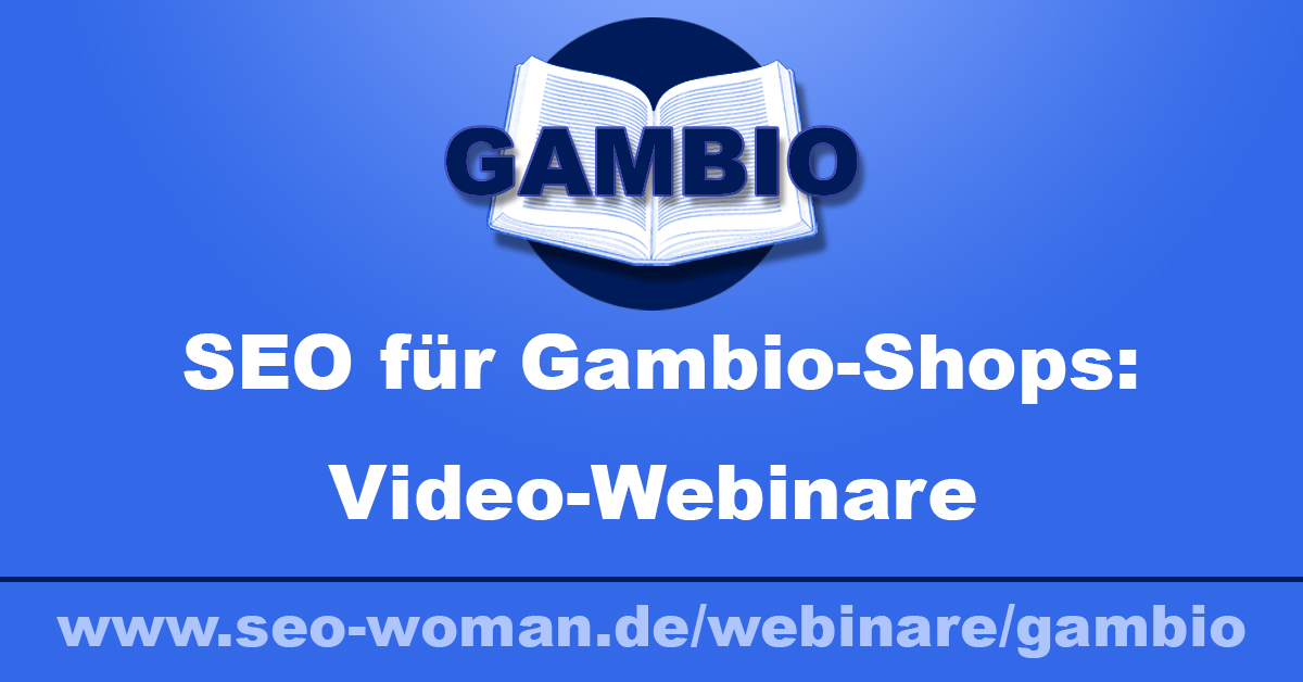 Gambio SEO Webinare