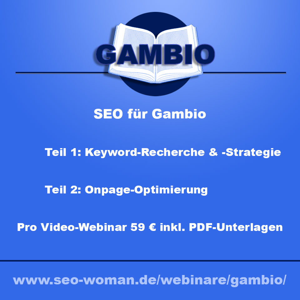 Gambio SEO Webinar