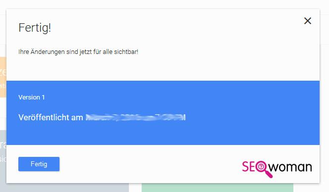 Google Tag-Manager einrichten - Fertig!