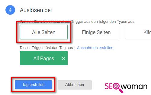 Google Tag-Manager einrichten - Tag erstellen